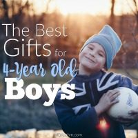 These gift ideas for 4-year old boys are sure to make them excited!