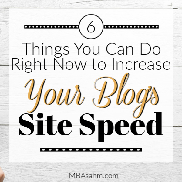 If you can make your blog faster, you will have happier readers! That's why increasing your blog's site speed is so important. These steps are easy to implement, so they're worth doing right now.