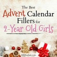 Advent Calendar Filler Ideas for 2-Year Old Girls