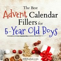 The Best Advent Calendar Filler Ideas for Preschool Boys