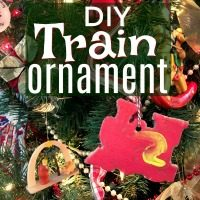 Easy Train Ornaments to Make with Your Kids