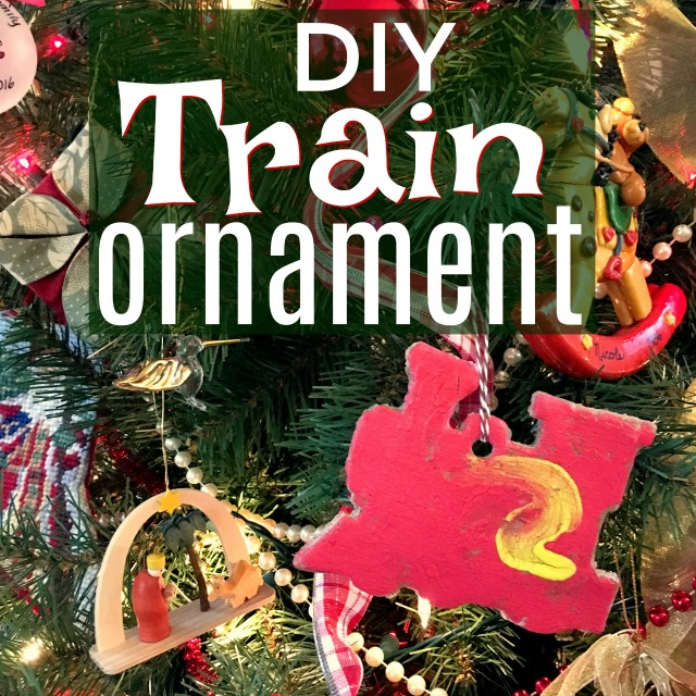 These saltdough DIY train Christmas ornaments are so fun and easy! They are a perfect Christmas gift for grandparents, aunts, and uncles and are easy enough for your kids to complete each step of the way.