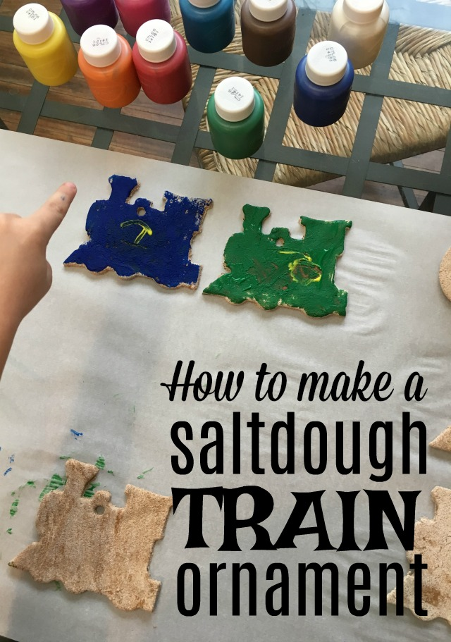 The perfect Christmas activity with your kids! Salt dough train ornaments!