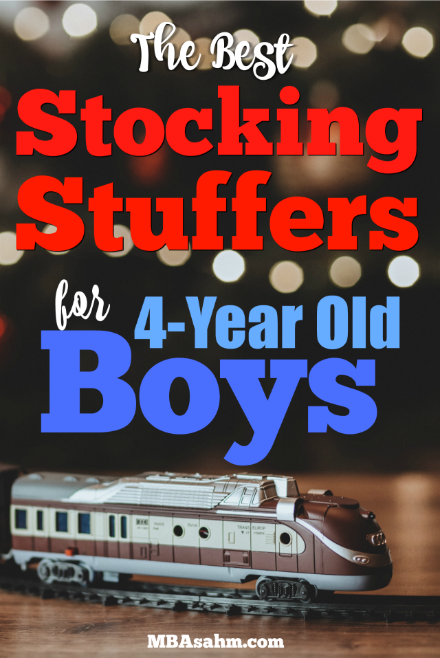 These are the best stocking stuffers for 4-year old boys! All of these inexpensive stocking stuffer ideas are exciting for little boys and don't involve candy!