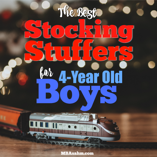 These are the best stocking stuffers for 4-year old boys that you can find! All are non-candy stocking stuffers and most importantly, they're all inexpensive.