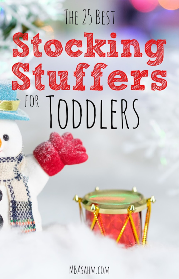 These are the best stocking stuffers for toddlers that you can find this Christmas season! Perfect for 1-year old, 2-year old, and 3-year old boys and girls, regardless of what they're interested in. Happy holidays!