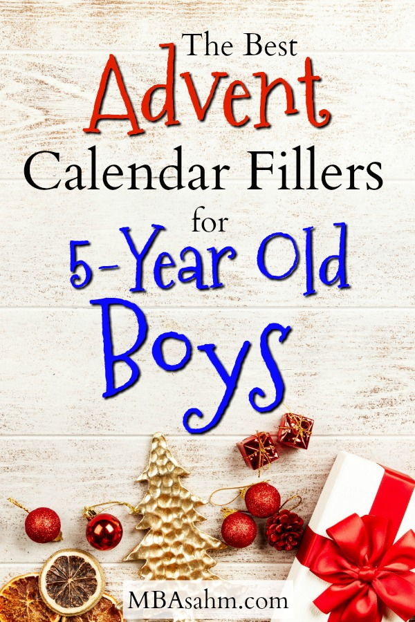 These amazing Advent calendar fillers for 5-year old boys will make your preschooler or kindergartener the happiest kid around! Advent calendars are one of the best ways to make the Christmas season memorable and these Advent calendar filler ideas will make every morning exciting!