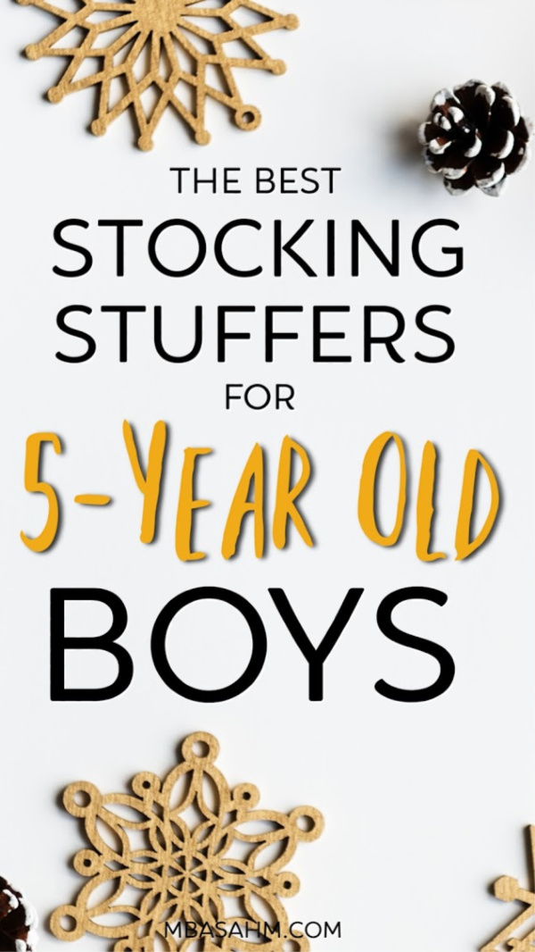 These are the best stocking stuffers for 5-year old boys. Whether your son is in kindergarten or preschool, these gifts will be a huge hit on Christmas morning.
