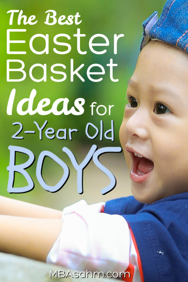Easter baskets for 2 year old boys are so much fun to put together!  These toddler gift ideas are the perfect easter basket ideas for 2-year old boys!  have a great holiday!