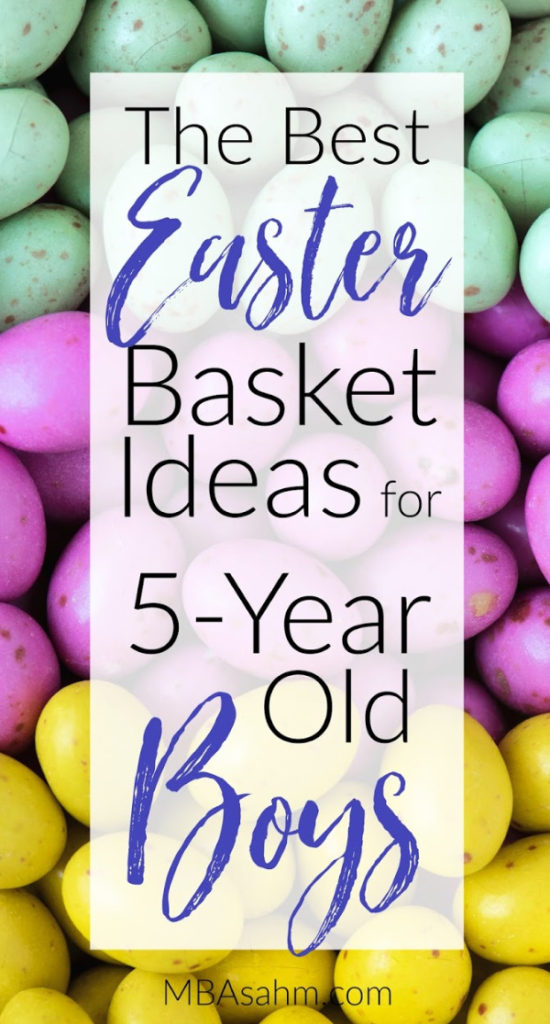These are definitely the best Easter basket ideas for 5-year old boys that you can find anywhere.  Preschoolers and kindergarteners are so much fun, so enjoy the holiday with them!