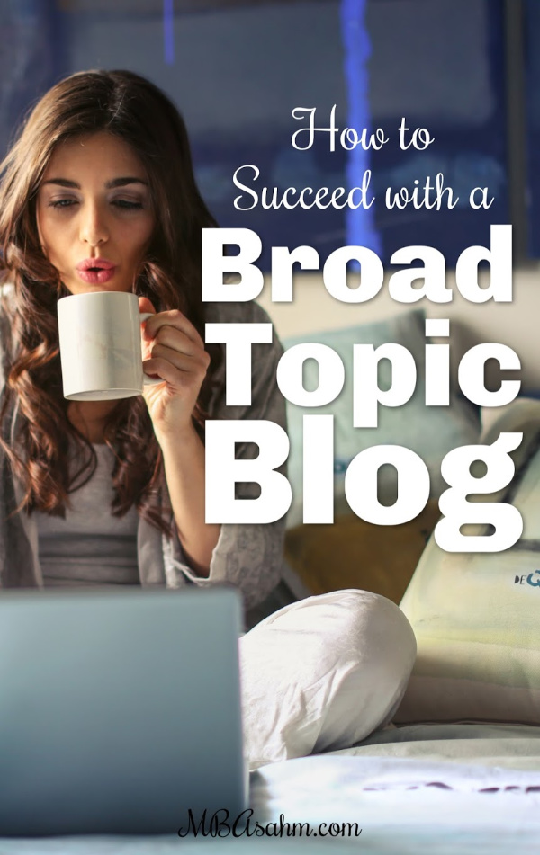 You can succeed with a broad topic blog, even if you don't have a specific niche. There are some huge advantages to having a broad lifestyle blog that most people forget about.  So if you're worried your broad blog is struggling, make sure you're using these strategies to grow your lifestyle blog!