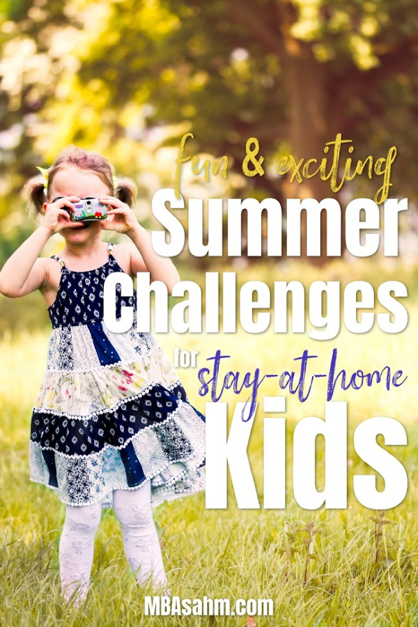 These fun summer challenges for kids will keep your kids busy and learning all summer long!  Some of these are educational summer challenges for kids and some are just plain fun!  If you're trying to figure out what to do with kids over the summer, you definitely need to incorporate these summer activities for kids!