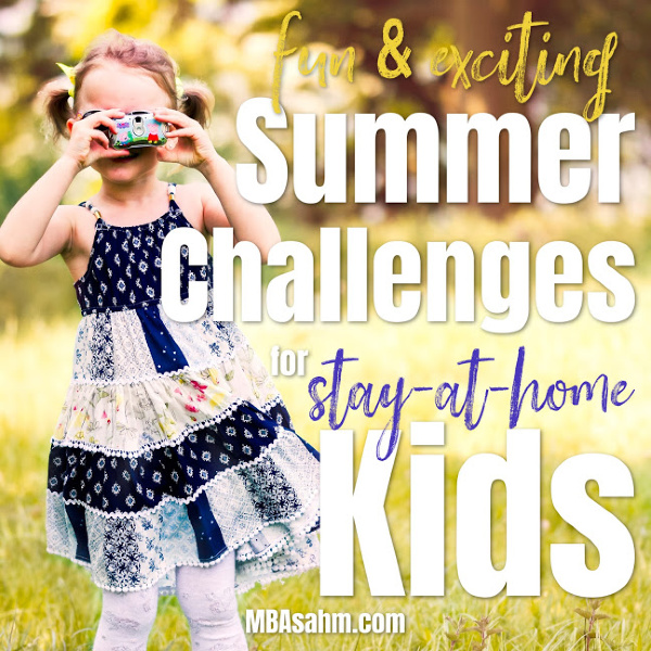 These summer challenges are perfect summer activities for kids to do over the summer.  They'll keep them busy, they're educational, and tons of fun!