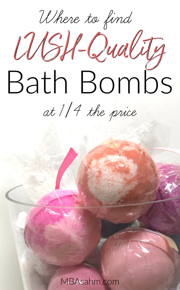 These aren't just cheap bath bombs, they're actually really high-quality bath bombs, but at the fraction of the price!  They're the only ones that come close to LUSH-quality...you'll probably like them even better!