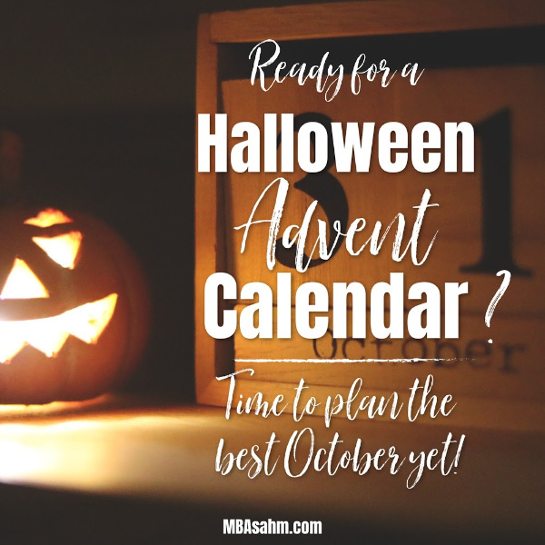 Halloween Thanksgiving Christmas Countdown.A Halloween Advent Calendar To Give Your Kids The Best