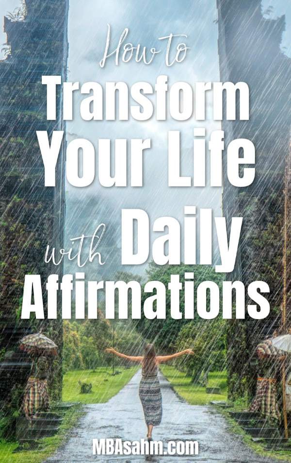 Using daily affirmations to transform your life is one of the easiest and most effective ways to change a bad day into a good one.  This form of daily inspiration is one of the best things you can do for yourself!