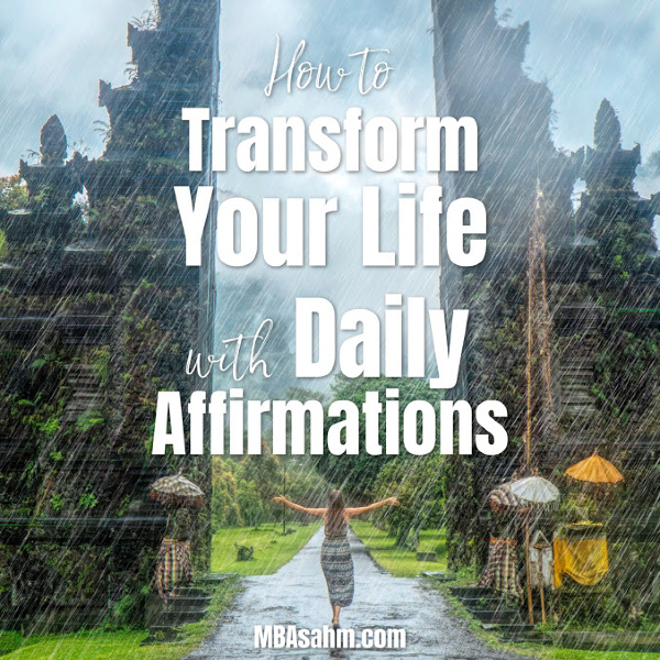 Daily affirmations have the ability to completely change your life and provide daily inspiration that you need to make your life better. Here's how to use them (plus a free printable list!).