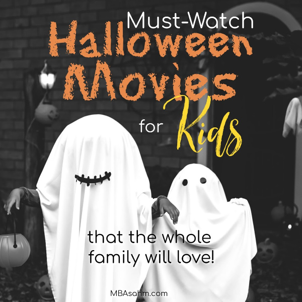 These family Halloween movies are perfect for young and old kids and will be enjoyed by everyone in the family.  It's a great family activity for movie night or a good Halloween distraction for the kids.