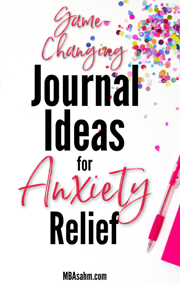 These journal ideas for anxiety relief have the power to turn around a bad day and pull you out of a rut.  Journaling for anxiety is a great natural anxiety reliever with absolutely no down side.  It's something you have nothing to lose by trying, but everything to gain!