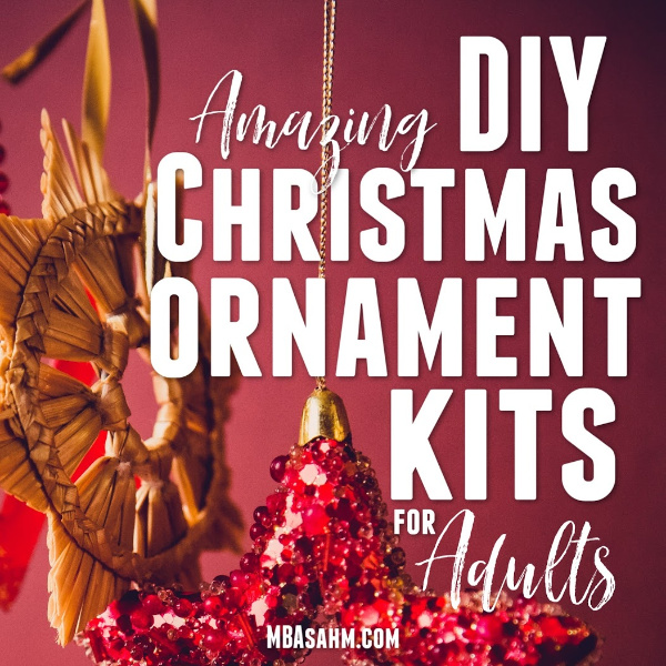 These adult craft kits make fun and thoughtful Christmas ornaments that you can use for gifts OR your own tree!  They're a great activity to do alone over the holiday season and the perfect way to try out a new craft hobby.