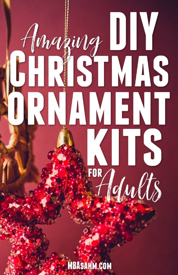 These DIY Christmas ornament kits for adults are the perfect way to spend the holidays alone or a great way to make meaningful gifts for family and friends.  All of these kits include all of the supplies necessary, so it's also a great way to try out a new craft hobby!
