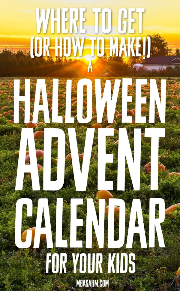 If you haven't tried a Halloween Advent Calendar before, this needs to be the year you do it!  This is such a fun family Halloween activity that will make October so fun and special!