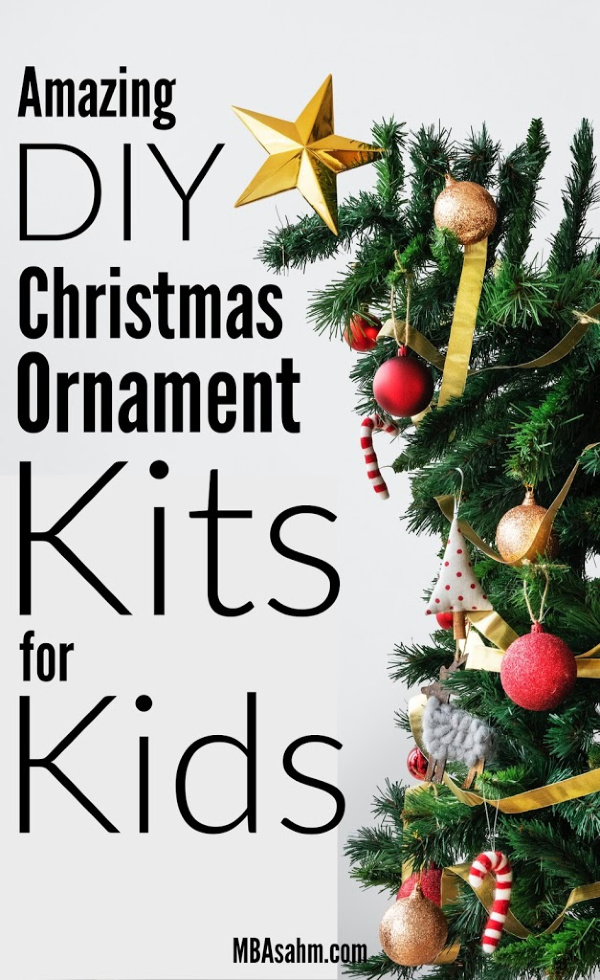 These DIY Christmas ornament kits for kids are the perfect family holiday activity! They make perfect handmade Christmas gifts for family and friends and are a really fun kid craft for the holidays!