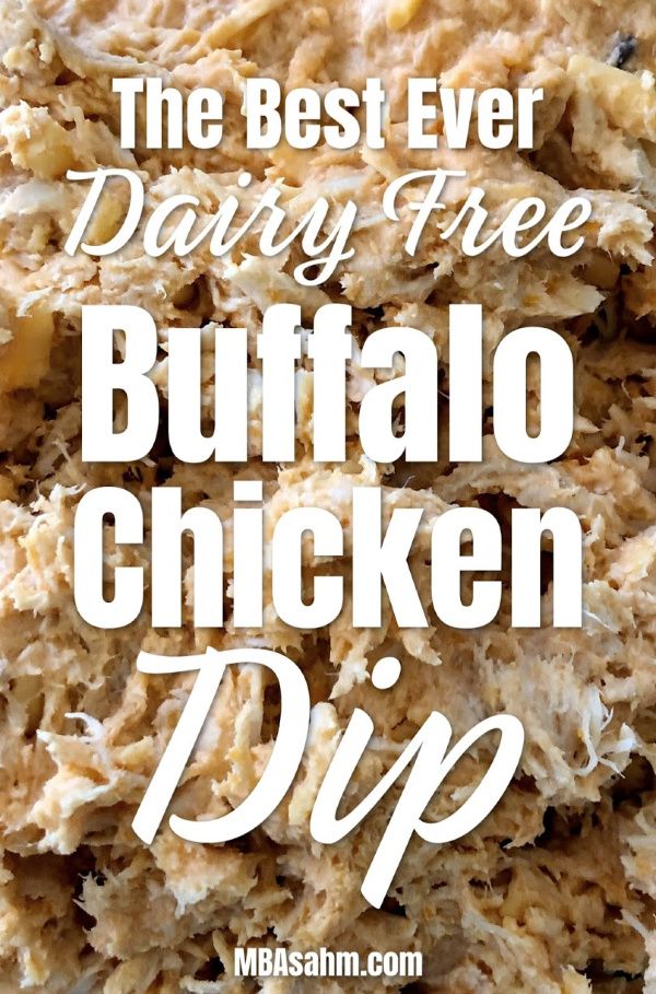 This non-dairy buffalo chicken dip is the best one that I've come across that uses all nut cheeses!  It's just as good as classic buffalo chicken dip and would make a perfect non-dairy appetizer!