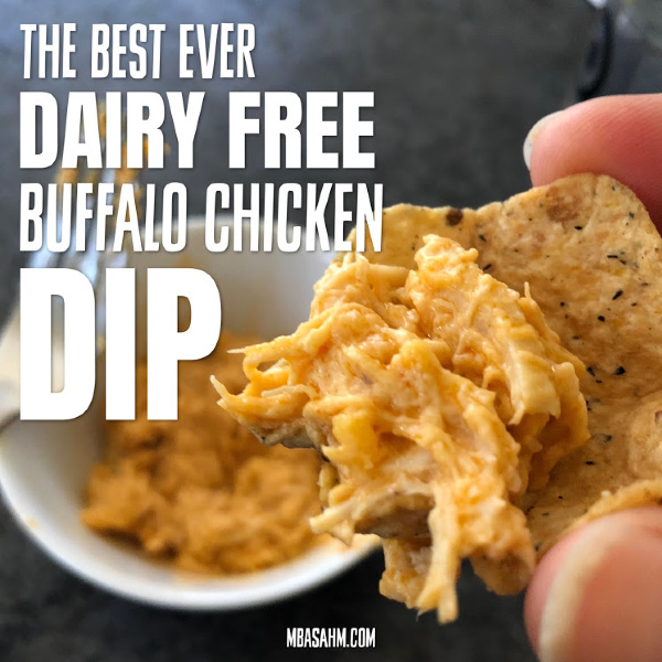 This is without a doubt the best dairy free buffalo chicken dip and it's perfect as a non-dairy game day appetizer!