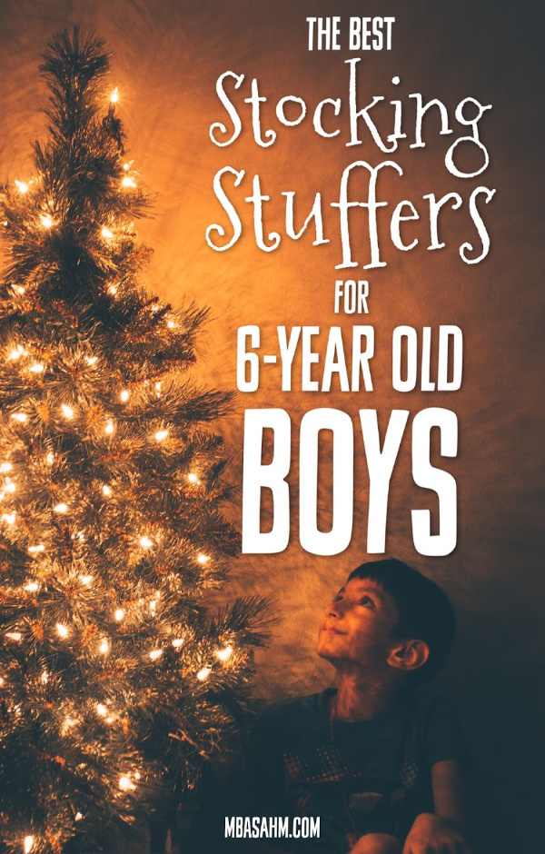 These stocking stuffers for 6-year old boys are the perfect gifts for your little boy! Good luck with your Christmas shopping!