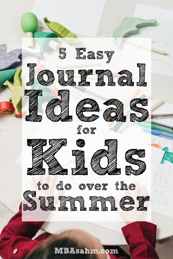 These easy journal ideas for kids are the perfect summer activity that will also help them relieve stress and stay happy!