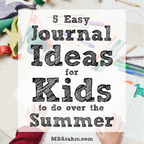 These easy journals for kids are the perfect summer activity for kids that will keep them engaged, busy, happy, and mentally healthy!