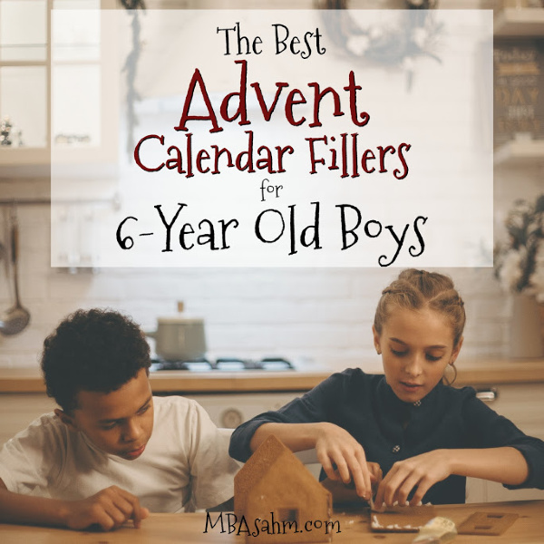 These Advent Calendar gift ideas for 6-year old boys are the perfect way to have a ton of fun at home this Christmas season!